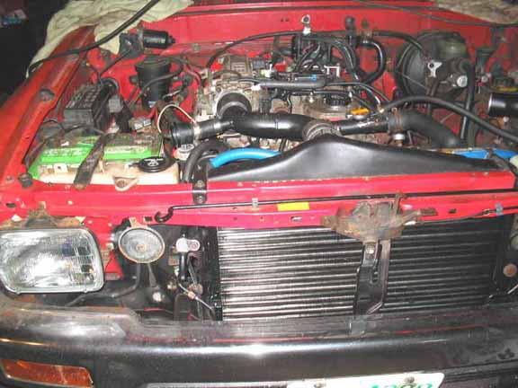 22RTE Intercooler and Radiator Install